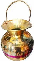 GOLDEN Brass Shivling Abhishek Lota Kalash, For Temple Pooja, Size/Dimension: 10 Inch