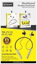 TP Troops 40hrs Neckband Wireless Earphone 7113   Earphone