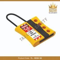 Yellow & Black Hard Nylon & ABS TL - DESH 3S De-Electric Slider Hasp - 3mm Shackle, Electrical Purpose