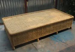 Brown Cane Bed, 6x3x1.5 Foot