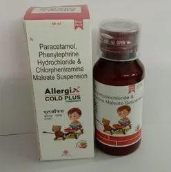 Paracetamol, Phenylephrine Hydrochloride & Chlorpheniramine Maleate Suspension