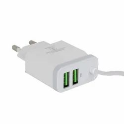 White Electric Hottech 3 USB Wall Adaptor, Model Name/number: 5563