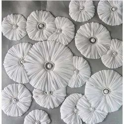 Applique Embroidered Fabric Exporter From India
