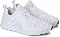 Men White Puma Sports Shoes, Size: 10