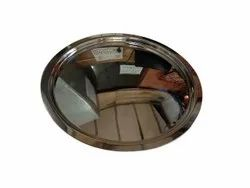 Polished Stainless Steel Lid Cover, For Kitchen, Size: 14 Cm