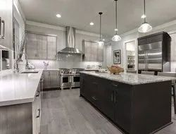 L shape luxury kitchen package with island