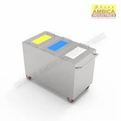 Shree Ambica Stainless Steel Bio Medical Waste Trolley, For Clinic