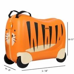 Orange,Black Polyester American Tourister Skittle Nxt Orange Kids Suitcase, For Travelling, Size: 50 X 21 X 39 Cm