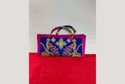 Assorted colors Matte Ladies Purse D Handle