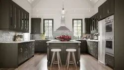Kitchen Island And Side Cabinets Combo