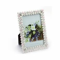 Enameled Double Layer Silver Photo Frame
