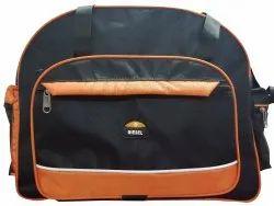 Black Polyester Travel Duffle Bag