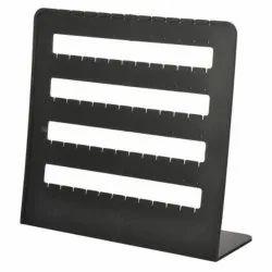 Black Plastic Jewelry Display Stand, Size: 12X8X3cm