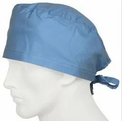 Oval Green Cotton Surgical Head Cap, Quantity Per Pack: 5, Size: 4 Inch X 9 Inch