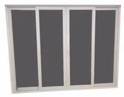 Partition Doors White UPVC 4 Panel Glass Door, For Home, Exterior