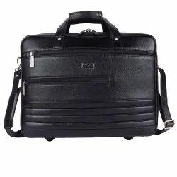Hammonds Flycatcher Genuine Leather Black 15.6 Inch Dual Compartment Premium Laptop Messenger Bag