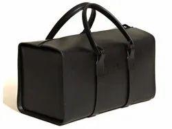 Leather Black Duffle Bag