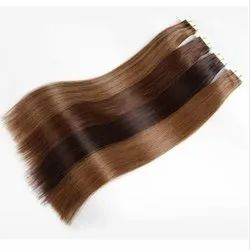 Shiny Light And Dark Brown Clip On Hair Extension For Women And GIrl