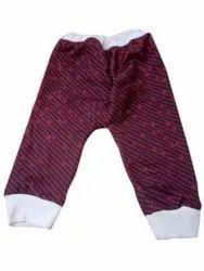 Maroon Newborn Baby Printed Cotton Lower