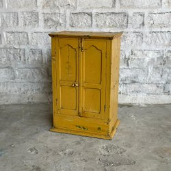 Multicolor Reclaimed Wood Storage Cabinet
