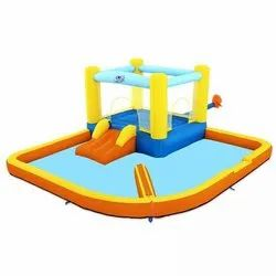 Portable Beach Bounce Water Park Jumper And Slider Pool