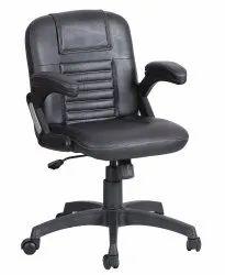 Mid Back Leatherette Office Chair Black (VJ-2018)