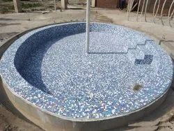 Sky Blue PVC Swimming Pools, For Residential, Dimension: 20*16