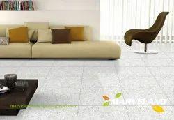 Marvel Peru White Ceramic Floor Tiles, Thickness: 8-18 Mm