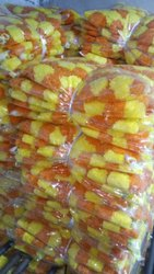 Artificial Marigold Double Color Flowers
