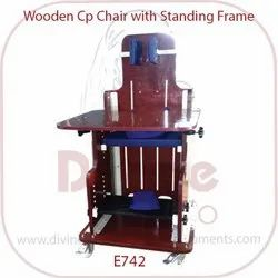 Wooden C P Chair With Standing Frame