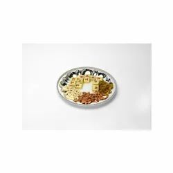 Round Dry Fruit Silver Tray