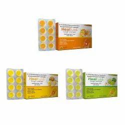 Healtuss Lozenges Orange / Healtuss Lozenges Ginger Lemon / Healtuss Lozenges Honey Lemon