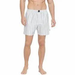 Striped Fashion Boxers Light Blue & White Short
