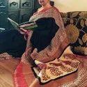 Bagru Hand Block Print Cotton Saree