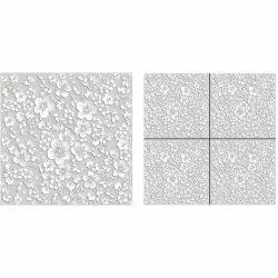 3D Flower Design Polished Verified Tiles, For Flooring, Size: 600 x 600 mm