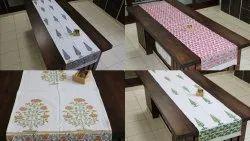 Meera Handicrafts Hand Printed Table Runner