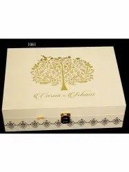 Square Mdf Wedding Invitation Box, Size/Dimension: 15 X 8 Inch
