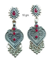 10gm Modern Oxidized Silver Earring