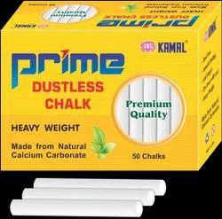 White Prime Dustless Chalks, Size: 75 Mm Long