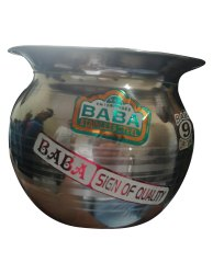 9inch Baba Stainless Steel Lota, For Pooja