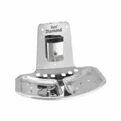 Shiva Diamond Curved Soap Dish Plate And Brush Holder