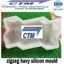 Zig Zag Concrete Paver Block Mould
