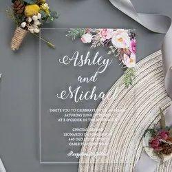 Transparent Wedding Invitation or Flora Design Card