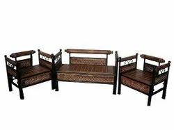 Unity decor Standard Wrought Iron Sofa Set, For Home, Size: Seat Size 38x22