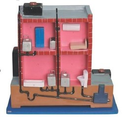 Individual Designer House Drainage System Model