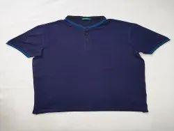 Round Half Sleeve Men Collar T Shirt