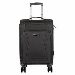 Black Polyester Herman Hansen 20 Inch Trolley Luggage Bag