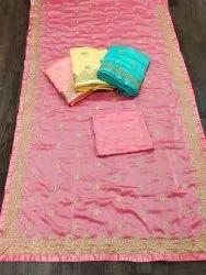 Chiffon Embroidered Saree