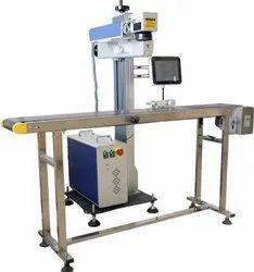 Industrial On-Line / Off-Line 20W Smart Flying Fiber Laser Printer Model SLP-F20C