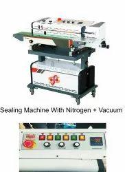 Band Sealer With Nitrogen Flushing And Vacuum Packing